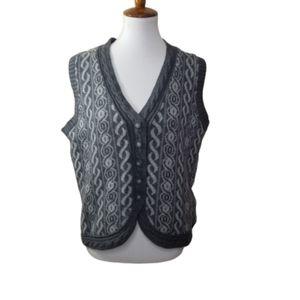 || WOOLRICH || L Charcoal Heather Sweater Vest